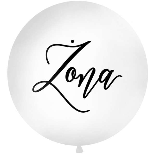 "Balon ""Żona"", biały, 1 metr, Partydeco"