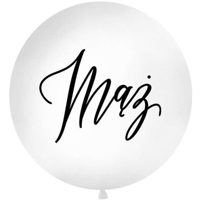 Balon Mąż biały 1 metr Partydeco