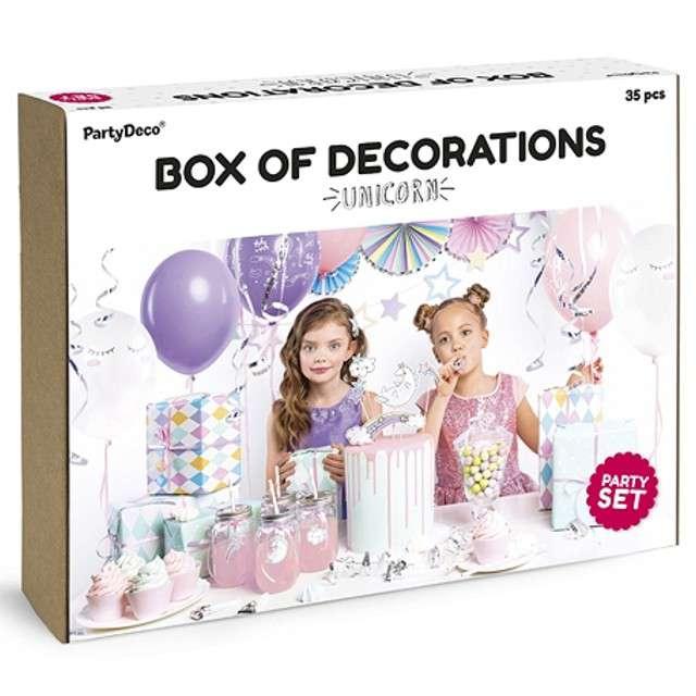 """Zestaw dekoracji """"Jednorożec Party"""", PartyDeco"""