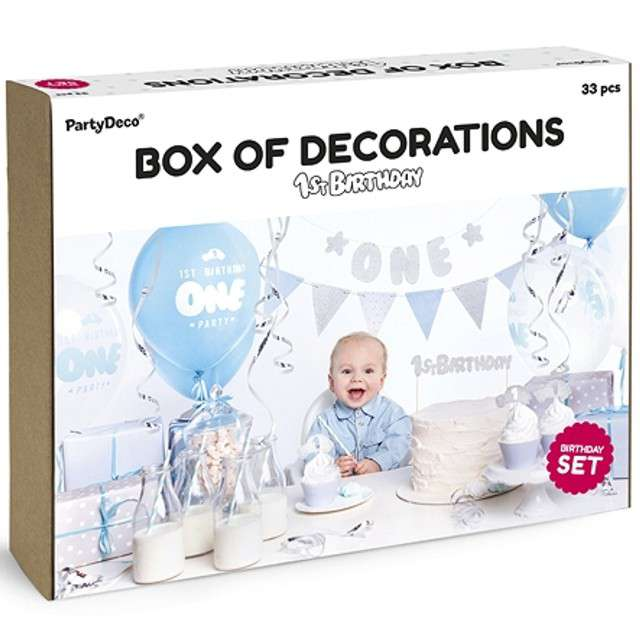 """Zestaw dekoracji """"1st Birthday Party"""", PartyDeco"""