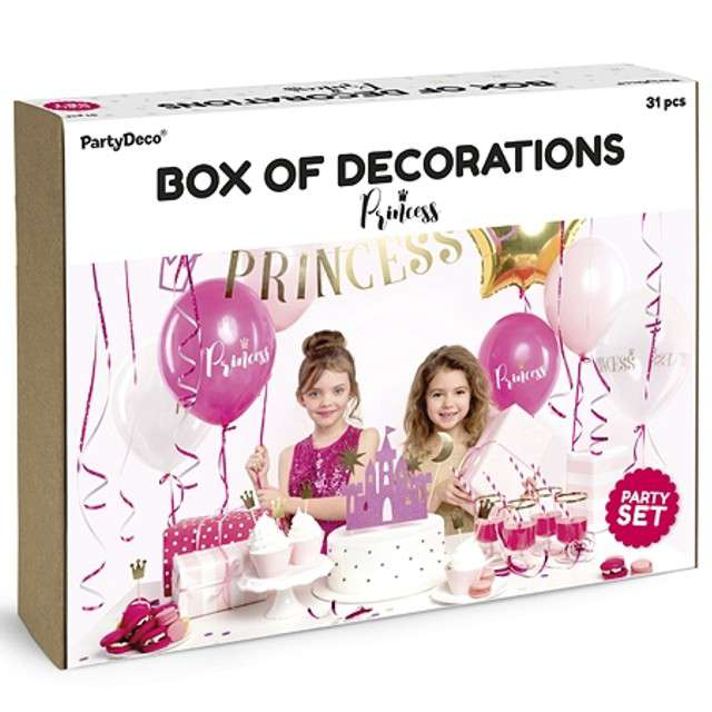 """Zestaw dekoracji """"Princess Party"""", PartyDeco"""