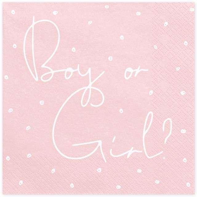 "Serwetki ""Boy or Girl"", PartyDeco, 33 cm, 20 szt"