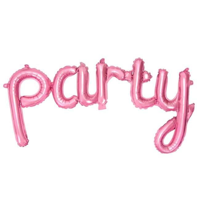"""Balon foliowy """"party"""", różowy, PartyDeco, 32"""" SHP"""