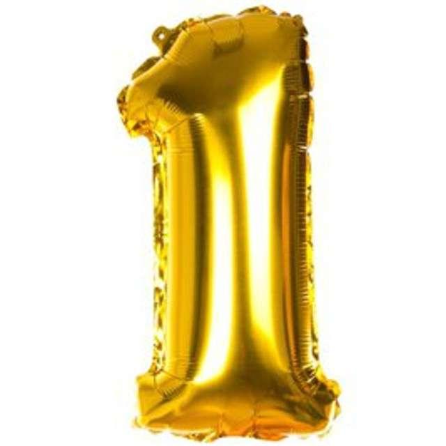 Balon foliowy cyfra 1 14 CZAKOS złoty