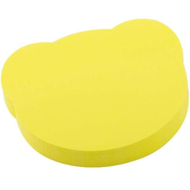"""Karteczki samoprzylepne """"MIŚ"""", żółty, D.RECT, 75 x 75 mm, 100 kartek"""