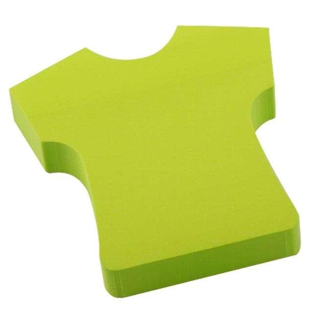 """Karteczki samoprzylepne """"T-SHIRT"""", zielony, D.RECT, 75 x 75 mm, 100 kartek"""