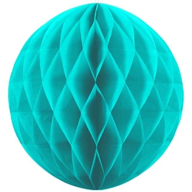 Kula bibułowa, turkusowa, 20 cm