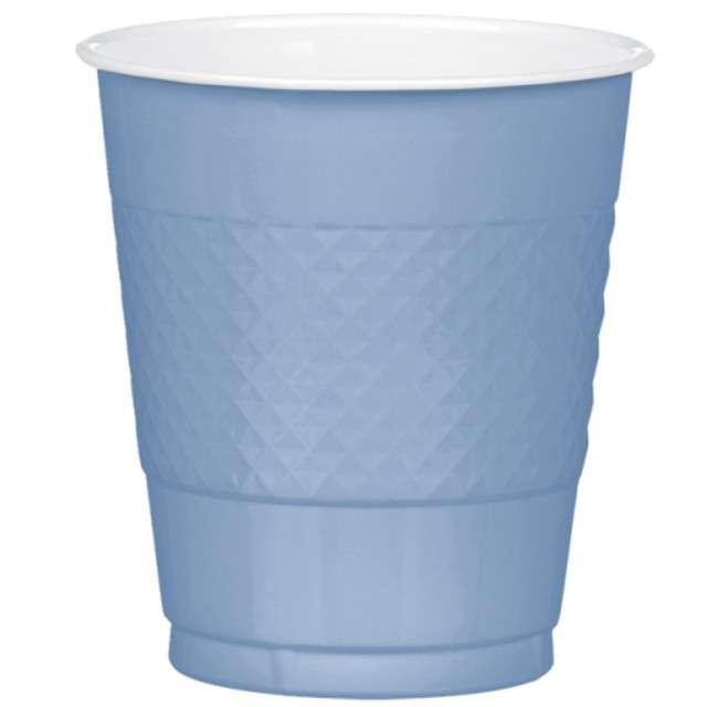 """Kubeczki plastikowe """"Diamond"""", niebieskie pastelowe, 355 ml, 10 szt"""