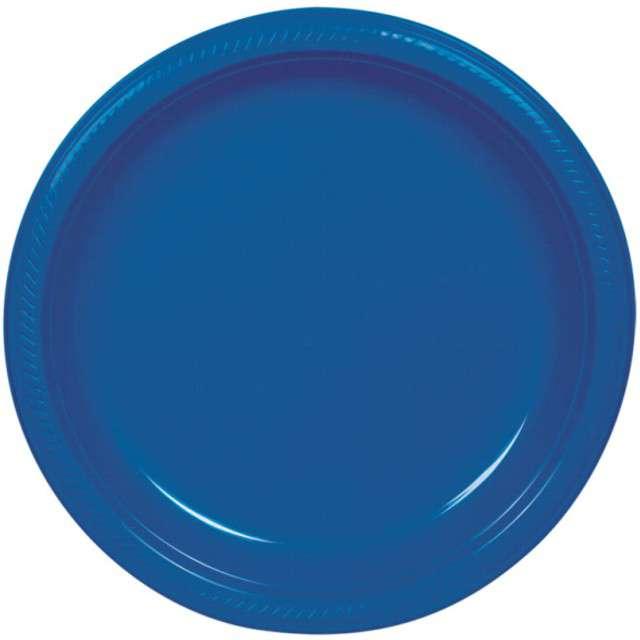"""Talerzyki plastikowe """"Amscan M"""", niebieskie, 17,7 cm, 10 szt"""
