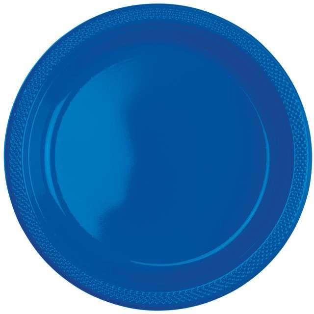 """Talerzyki plastikowe """"Amscan L"""", niebieskie, 22,8 cm, 10 szt"""