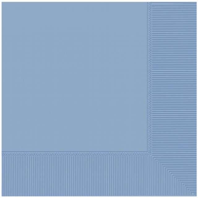 """Serwetki """"Gładkie"""", niebieskie pastelowe, AMSCAN, 25 cm, 20 szt"""