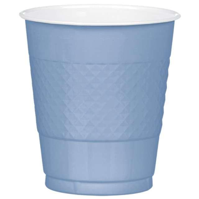 """Kubeczki plastikowe """"Diamond"""", AMSCAN, 355 ml, niebieskie pastelowe, 20 szt"""