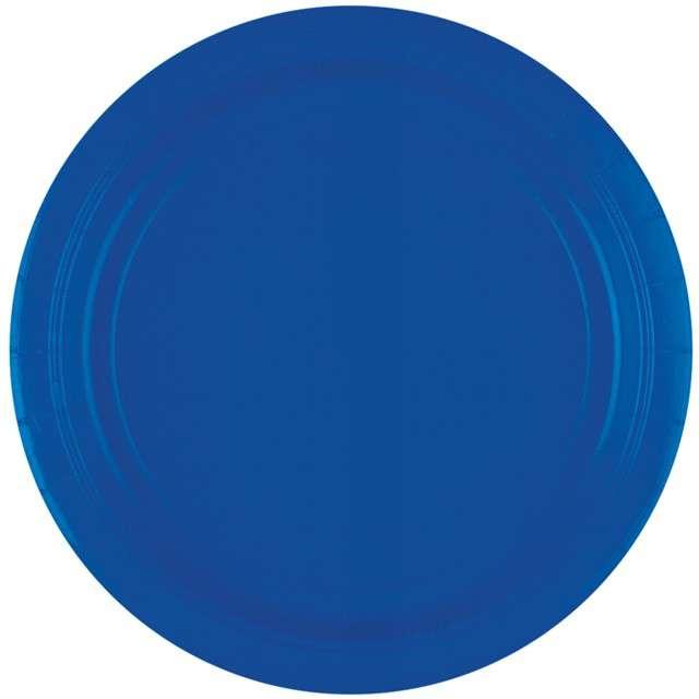 """Talerzyki papierowe """"Premium AMSCAN L - jumbo pack"""", niebieskie, 23 cm, 20 szt"""