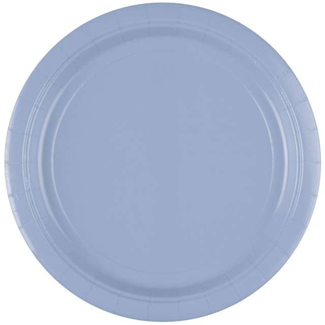 "Talerzyki papierowe ""Premium AMSCAN L - jumbo pack"", niebieskie pastelowe, 23 cm, 20 szt"