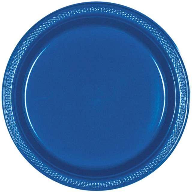 Talerzyki plastikowe Amscan, niebieskie, 22,8 cm, 20 szt