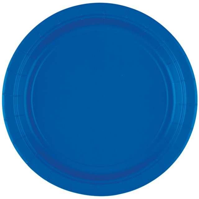 """Talerzyki papierowe """"Premium AMSCAN S"""", niebieskie, 17,7 cm, 8 szt"""