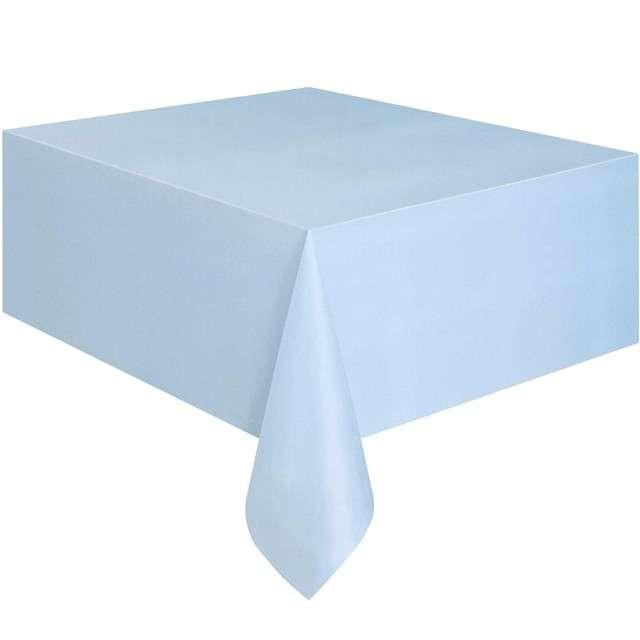 Obrus foliowy, AMSCAN, niebieski pastelowy, 137x274 cm