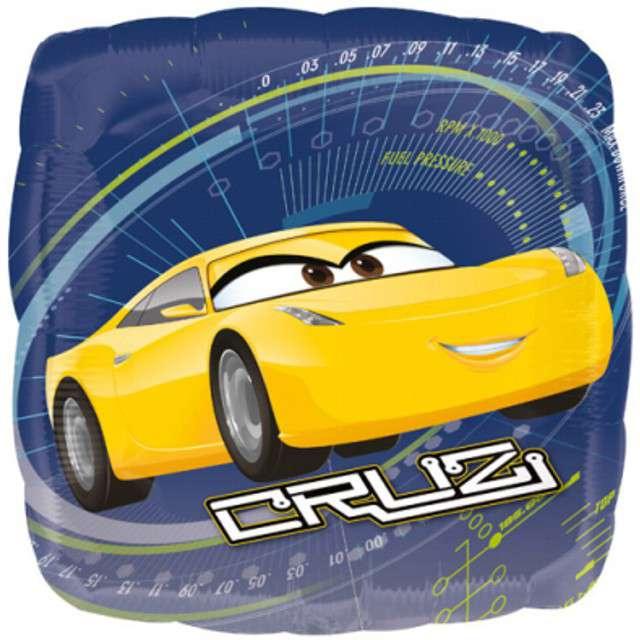 "Balon foliowy ""Cars 3 Jackson & Cruz"", AMSCAN, 17"" SQR"