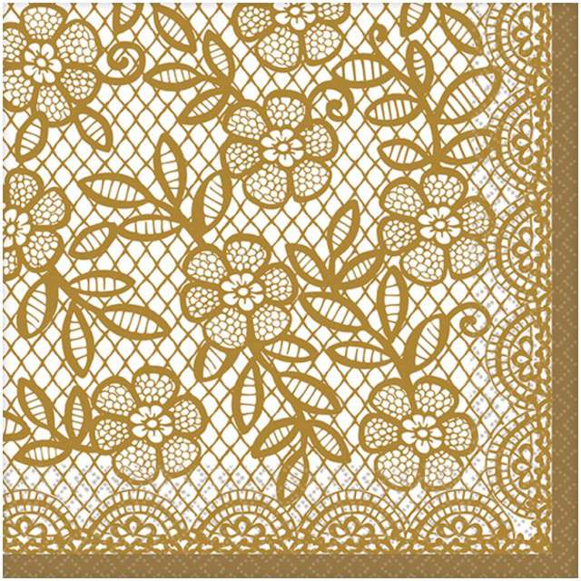 """Serwetki """"Delicate Lace"""", AMSCAN, 25 cm, 16 szt"""