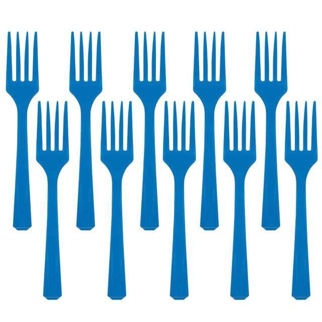 """Widelce plastikowe """"Amscan"""", niebieskie, 16 cm, 10 szt"""