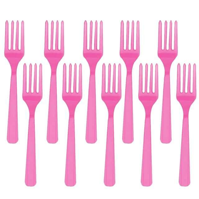 """Widelce plastikowe """"Amscan"""", różowe, 16 cm, 10 szt"""