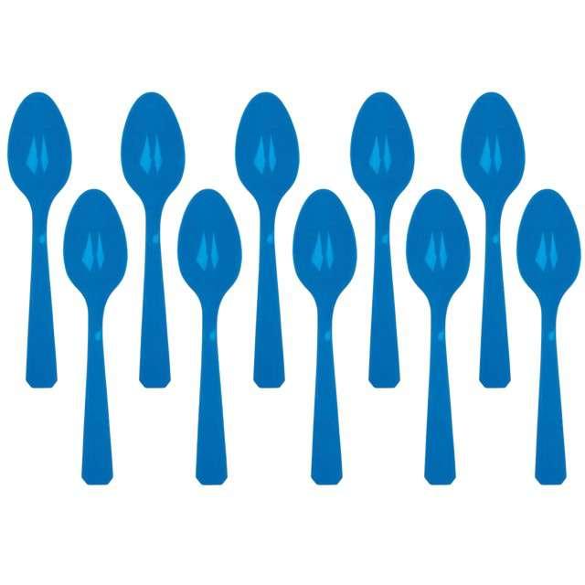 """Łyżki plastikowe """"Amscan"""", niebieskie, 15 cm, 10 szt"""