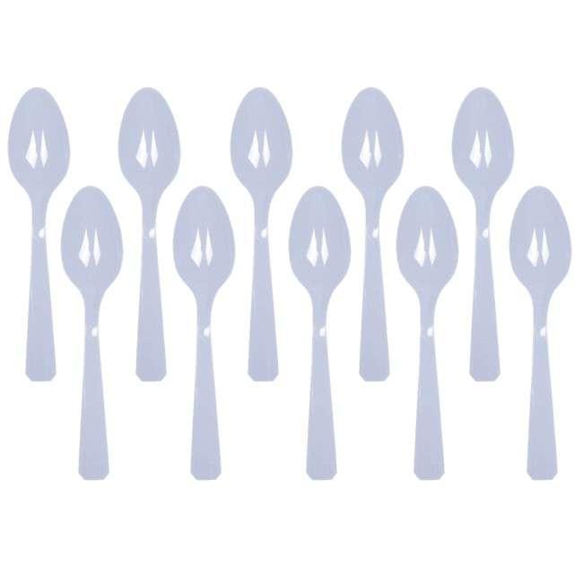 """Łyżki plastikowe """"Amscan"""", niebieskie pastelowe, 15 cm, 10 szt"""