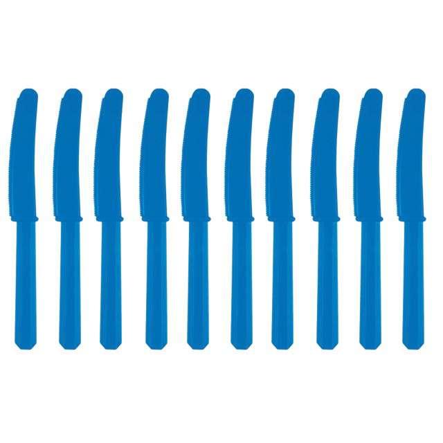 Noże plastikowe, niebieskie, AMSCAN, 17 cm, 10 szt