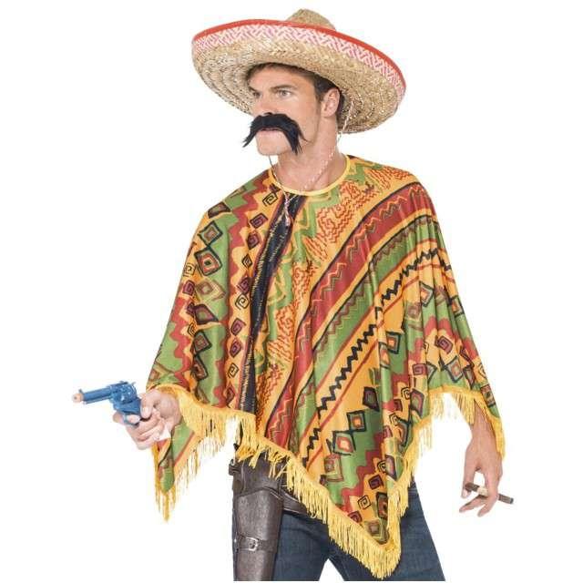 """Strój dla dorosłych """"Ponczo Meksykańskie i Wąsy"""", Smiffys, rozm. uniw."""