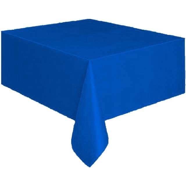 Obrus foliowy, AMSCAN, niebieski, 137x274 cm