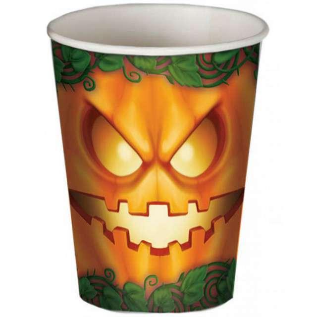 """Kubeczki papierowe """"Dynia Halloween"""", 200 ml, 8 szt"""