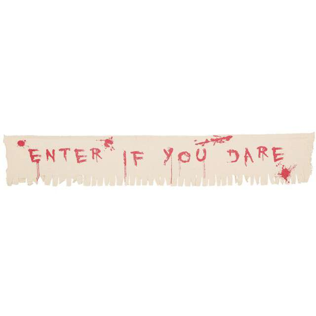 "Baner ""Enter If You Dare"", GUIRCA, 175 cm"