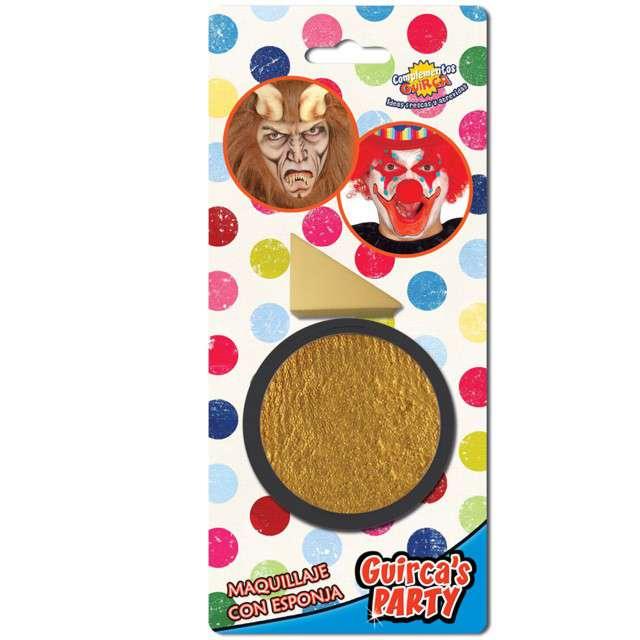 """Make-up party """"Farba do makijażu z gąbeczką"""", złota, GUIRCA , 9 g"""