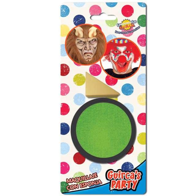 """Make-up party """"Farba do makijażu z gąbeczką"""", zielona jasna, GUIRCA , 9 g"""