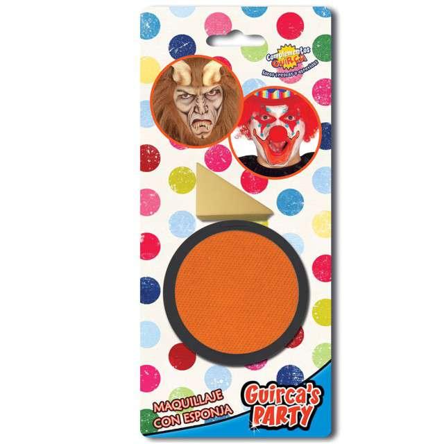 """Make-up party """"Farba do makijażu z gąbeczką"""", pomarańczowa, GUIRCA , 9 g"""