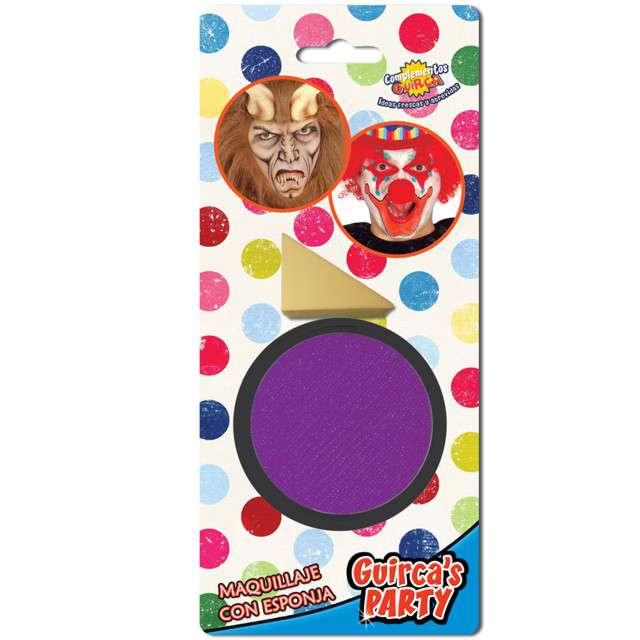 """Make-up party """"Farba do makijażu z gąbeczką"""", fioletowa, GUIRCA , 9 g"""