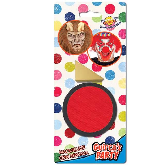 """Make-up party """"Farba do makijażu z gąbeczką"""", czerwona, GUIRCA , 9 g"""