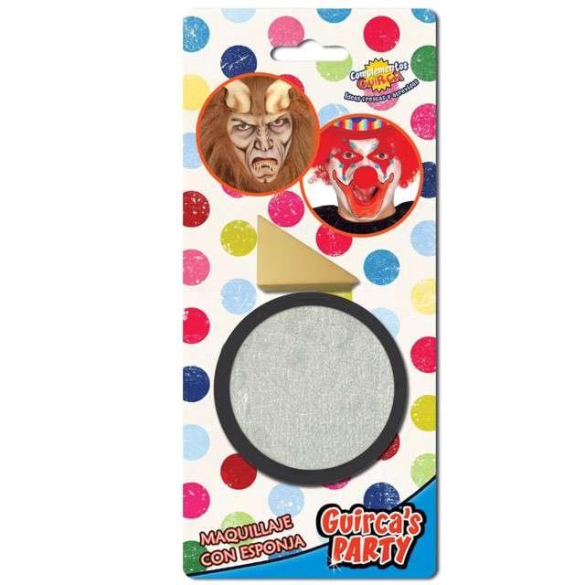 """Make-up party """"Farba do makijażu z gąbeczką"""", srebrna, GUIRCA , 9 g"""