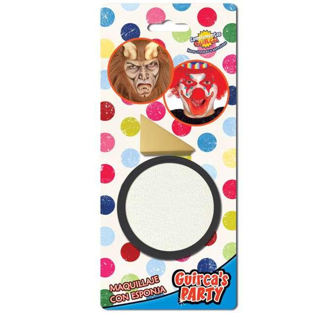 """Make-up party """"Farba do makijażu z gąbeczką"""", biała, GUIRCA , 9 g"""