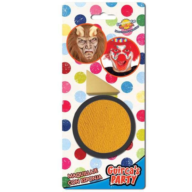 """Make-up party """"Farba do makijażu z gąbeczką"""", żółta, GUIRCA , 9 g"""