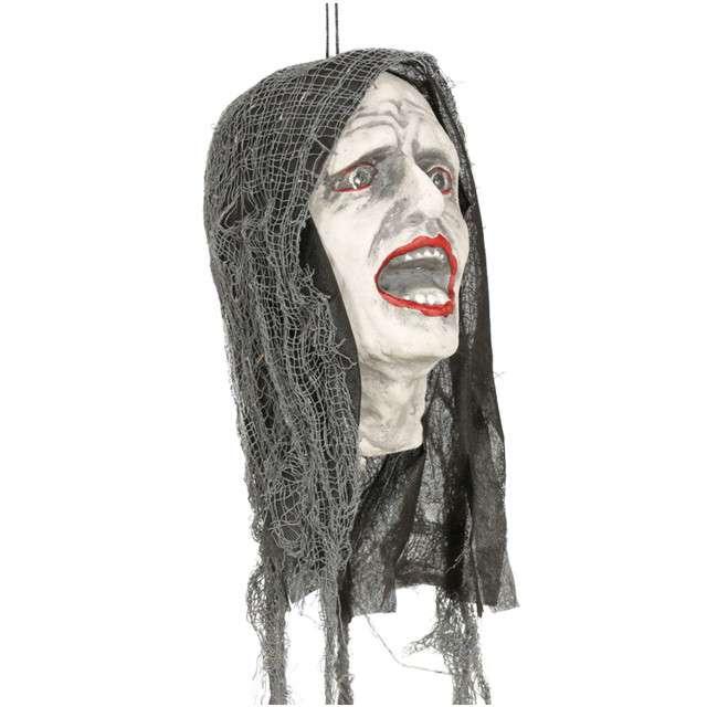"""Dekoracja wisząca """"Głowa Zombie"""", GUIRCA, 25 cm"""