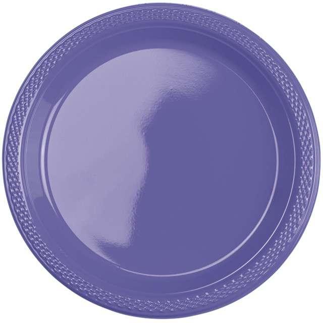 """Talerzyki plastikowe """"Amscan M"""", fioletowe, 17,7 cm, 10 szt."""