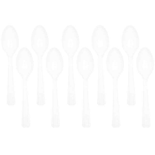 """Łyżki plastikowe """"Amscan"""", transparentne, 15 cm, 10 szt"""