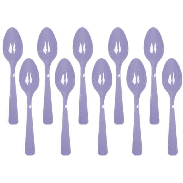 """Łyżki plastikowe """"Amscan"""", fioletowe jasne, 15 cm, 10 szt"""