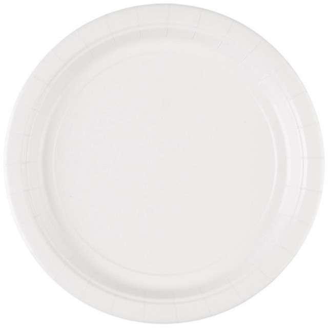 """Talerzyki papierowe """"Premium AMSCAN L"""", białe, 22,8 cm, 8 szt"""