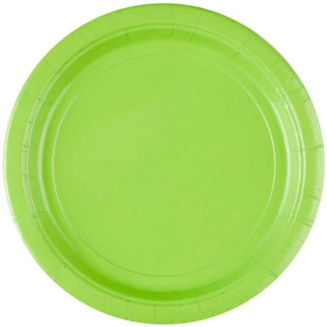 """Talerzyki papierowe """"Premium AMSCAN L"""", zielone jasne, 22,8 cm, 8 szt"""