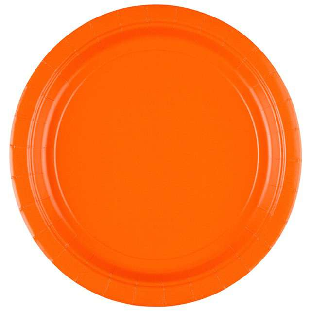 """Talerzyki papierowe """"Premium AMSCAN L"""", pomarańczowe, 22,8 cm, 8 szt"""