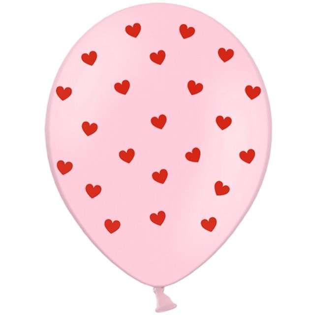 """Balony """"Serca"""", pastel różowe, STRONG, 12"""", 6 szt"""