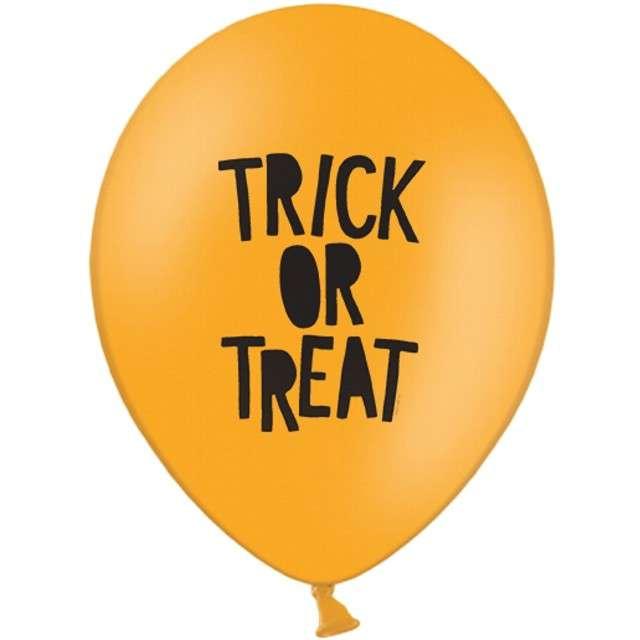 "Balony ""Trick or Treat"", pastel pomarańczowe, STRONG, 12"", 6 szt."