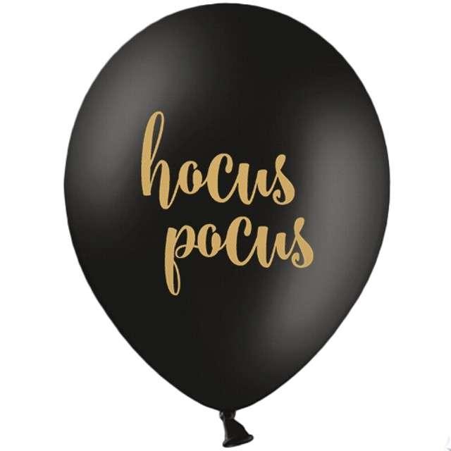 "Balony ""Hocus Pocus"", pastel czarne, STRONG, 12"", 6 szt."